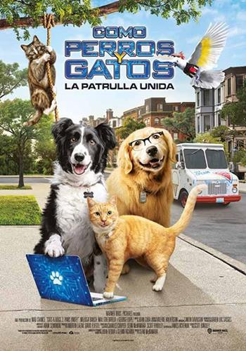 Como perros y gatos la patas unida